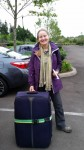 Joan Leaving on Train for Seattle